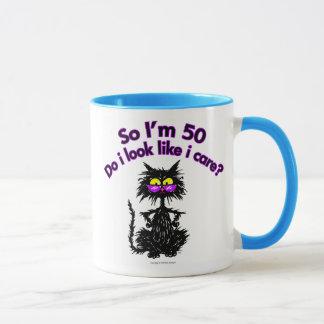 Mug cinquantième Cadeaux de chat d'anniversaire