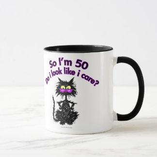 Mug cinquantième Chat d'anniversaire