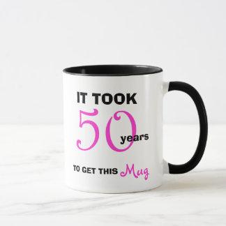 Mug cinquantième Idées de cadeau d'anniversaire pour