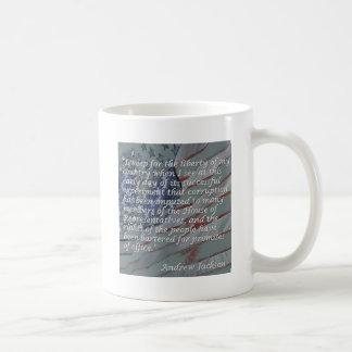 Mug Citation d'Andrew Jackson - je pleure pour la