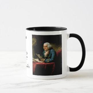 "Mug Citation de Ben Franklin ""la constitution des"