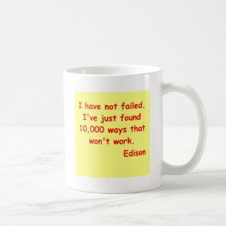 Mug Citation de Thomas Edison