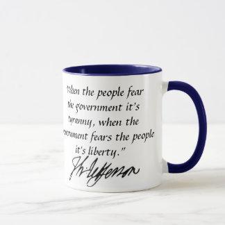 Mug citation de Thomas Jefferson