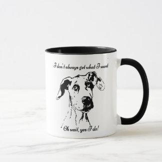 Mug Citation drôle d'humour de chien corrompue par