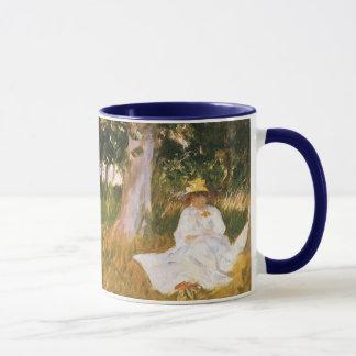 Mug Claude Monet peignant, bord d'un bois par Sargent