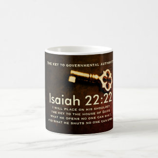 Mug Clé de 22h22 d'Isaïe à la Chambre du vers de bible
