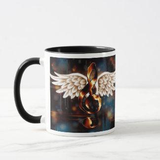 Mug Clef de G avec des ailes
