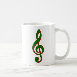 Mug Clef triple de Noël vert