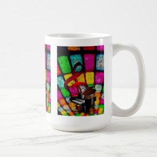 Mug Clef triple et piano colorés et bariolés