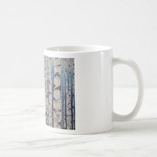 Mug Code Morse d'arbres de bouleau