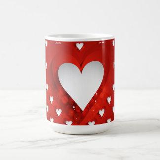 Mug Coeur blanc de Saint-Valentin - personnaliser