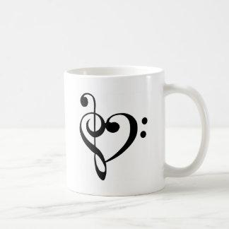 Mug Coeur de clef de base de clef triple