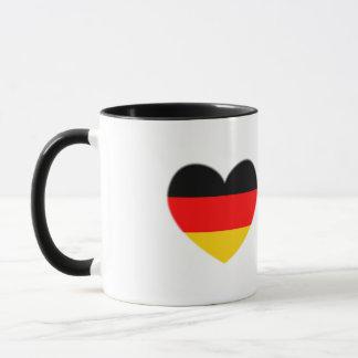 Mug Coeur de drapeau de l'Allemagne