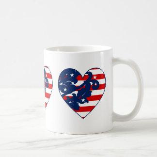 Mug Coeur patriotique mignon