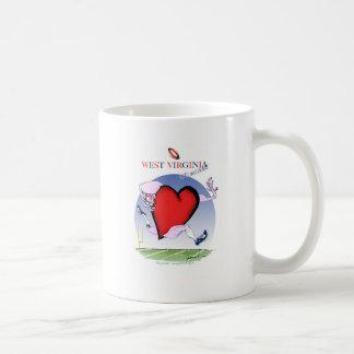 Mug coeur principal de W la Virginie, fernandes