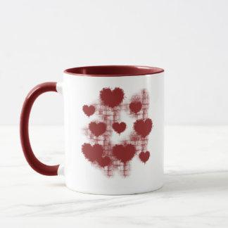 Mug Coeurs sur le mur