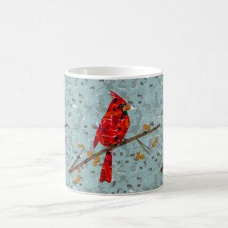 Mug Collage cardinal d'oiseau de Noël
