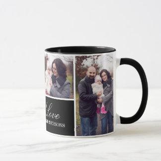 Mug Collage de photo du monogramme 4