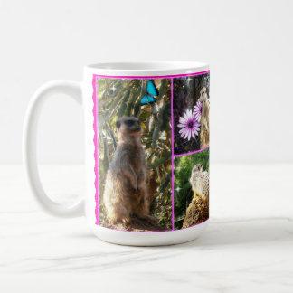 Mug Collage d'image de trois Meerkat,