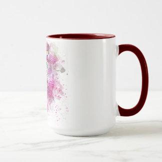 Mug Combiné, tasse, 15oz, rouge foncé, sonnerie,