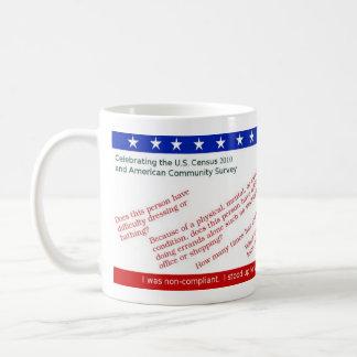 Mug Commémorez votre résistance de recensement des