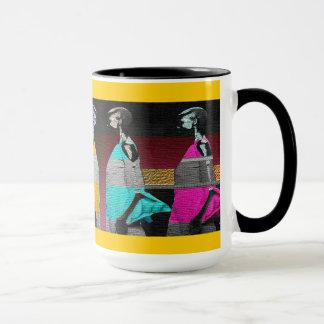 Mug Conception africaine abstraite de contemporain