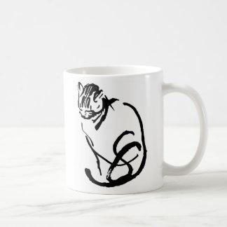 Mug Conception de dessin de brosse de chat siamois
