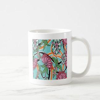 Mug Conception de papier peint floral d'été