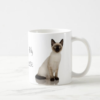 Mug Conception de photographie de chat siamois