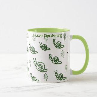 Mug Conception d'escargot et de feuille d'Absract