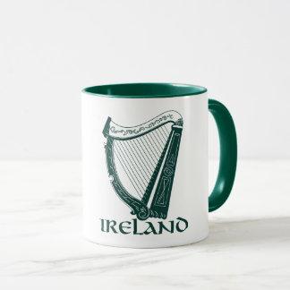 Mug Conception d'harpe de l'Irlande, harpe irlandaise
