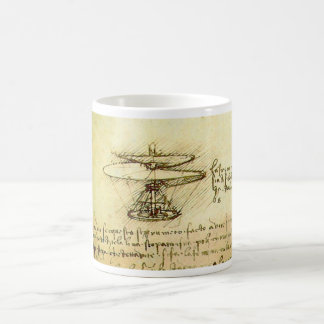 Mug Conception d'hélicoptère de Davinci