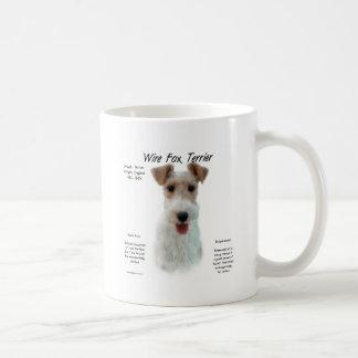 Mug Conception d'histoire de Fox Terrier de fil