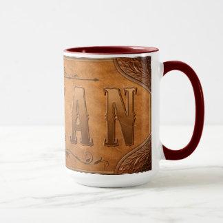 Mug Conception en cuir TEXANE
