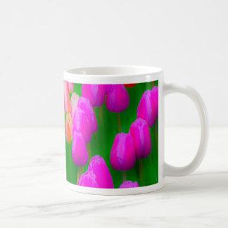 Mug Conception florale de tulipe rose et orange