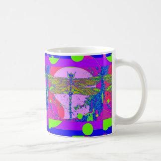 Mug Conception moderne de libellule d'or de Sharles