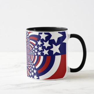 Mug Conception patriotique de bannière étoilée des