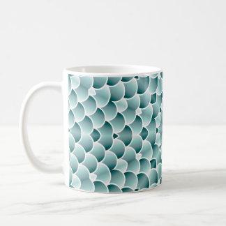 Mug Conception turquoise de kaléidoscope d'échelles