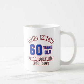 Mug conceptions d'anniversaire de 60 ans