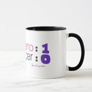 Mug Conscience de Cancer - meilleur ami : 1 Cancer : 0