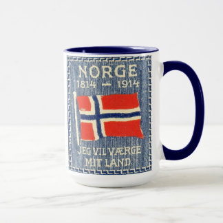 Mug Constitution vintage norvégienne 100th Anniv de la