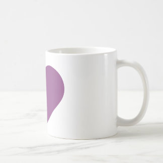 Mug Contemporain moderne pourpre de prune simple de