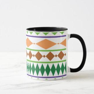 Mug Corail tribal géométrique de rouille de vert de
