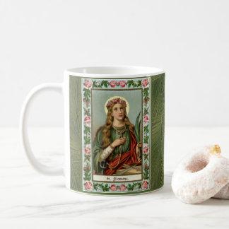 Mug Corde rose de paume de roses de St Philomena
