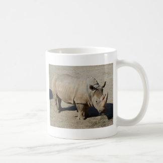 Mug Corps de rhinocéros de rhinocéros blanc plein