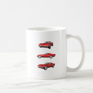 Mug Corvette 1970 : Finition rouge