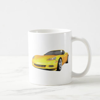 Mug Corvette 2008 : Voiture de sport : Finition jaune
