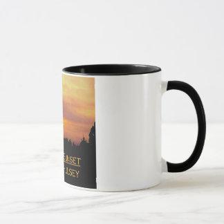 Mug Coucher du soleil de lever de soleil 11 onces.