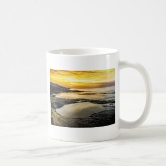 Mug Coucher du soleil de point de flétan