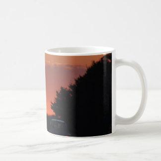 Mug Coucher du soleil de route vif